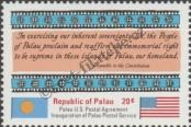 Stamp Palau Catalog number: 1