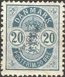 Stamp Denmark Catalog number: 36