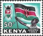 Stamp Kenya Catalog number: 7