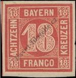 Stamp Bavaria Catalog number: 13