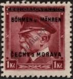 Stamp Protectorate of Bohemia and Moravia Catalog number: 9