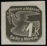 Stamp Protectorate of Bohemia and Moravia Catalog number: 50