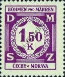 Stamp Protectorate of Bohemia and Moravia Catalog number: 8