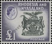 Stamp Federation of Rhodesia and Nyasaland Catalog number: 33