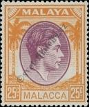 Stamp Malacca Catalog number: 16