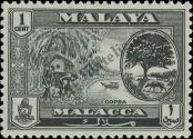 Stamp Malacca Catalog number: 55